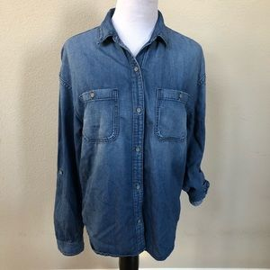 Ag Adriano Goldschmied Shirts - AG Adriano Goldschmied Long Sleeve Denim Shirt